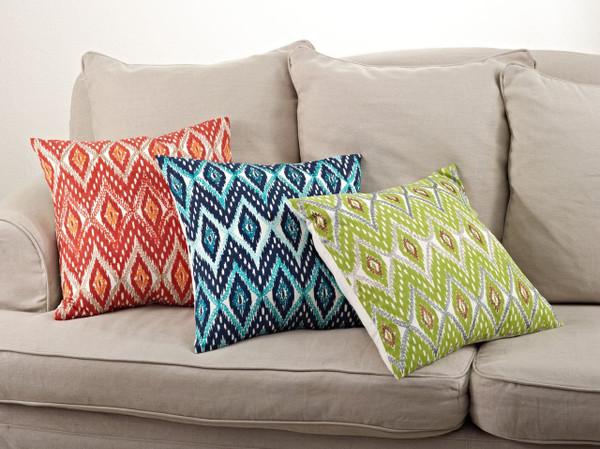 """Fennco Styles Stitched Keliana Design Cotton Down Filled Decorative Throw Pillow 20""""x20"""""""