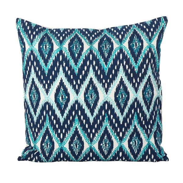 "Stitched Keliana Design Cotton Down Filled Decorative Throw Pillow 20""x20"""