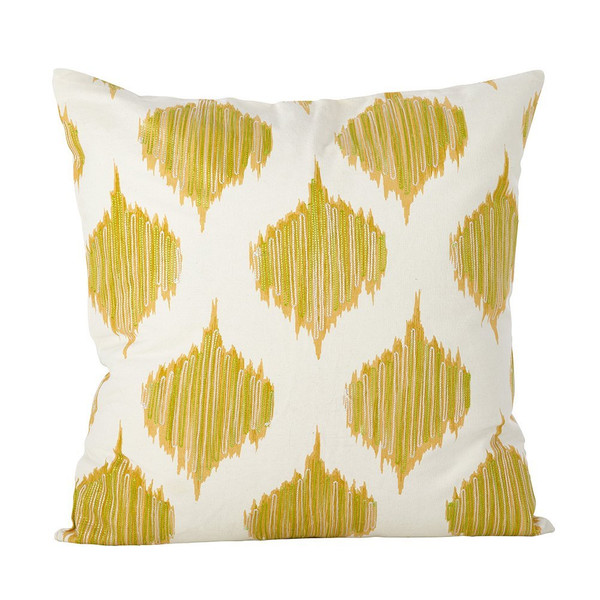"""Fennco Styles Stitched Ink Blot Amable Design Cotton Down Filled Throw Pillow 20""""x20"""""""