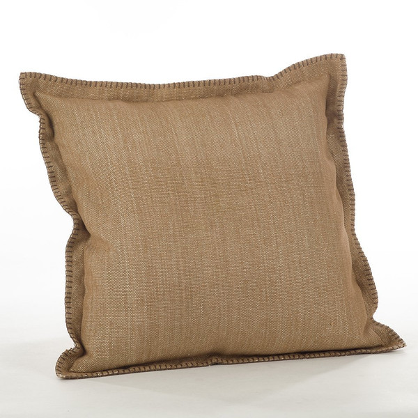 "Fennco Styles Celena Collection Whip Stitched Flange Design Down Filled Throw Pillow - 20"" Square"