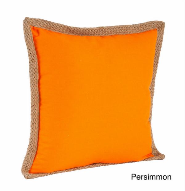 Jute Braided Cotton Throw Pillow