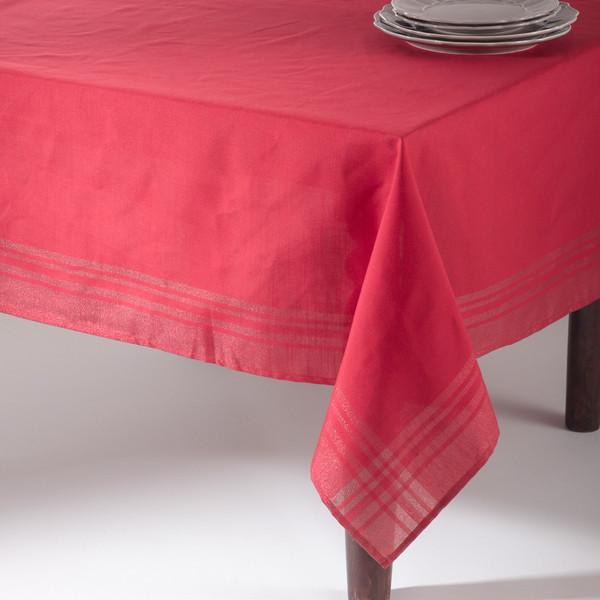 Holiday Iridescent Design Plaid Tablecloth