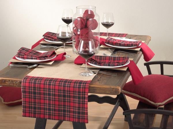 Newcastle Collection Holiday Décor Tartan Plaid Table Runner