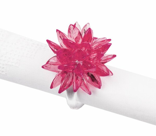 Fennco Styles Crystal Design Collection Napkin Ring - Set of 4
