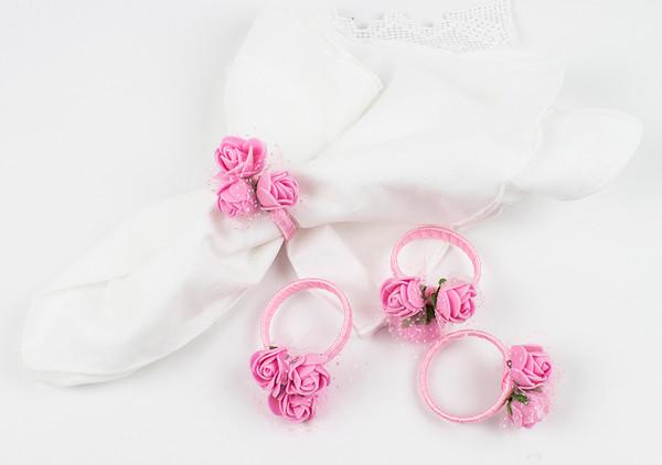 Fennco Styles Handmade Lovely Rose Napkin Ring - Set of 4