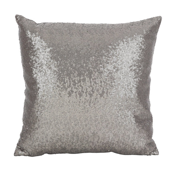 """Fennco Styles Shimmering Sequin Design Poly Filled Pillow 18"""" Square"""