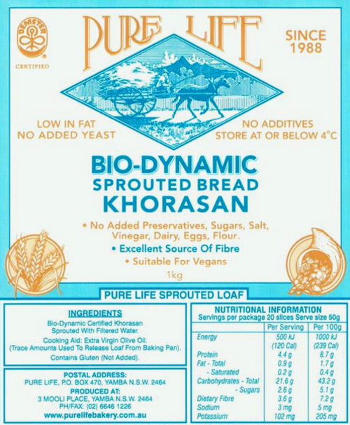 Pure Life Bread Sprouted Khorasan