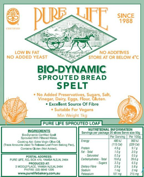 Pure Life Bread Sprouted Spelt