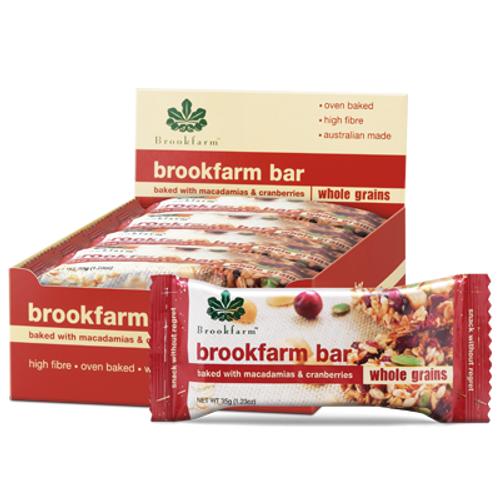 Brookfarm Toasted Bar with Cranberry & Macadamia x 12