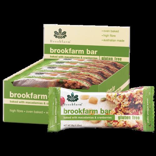 Brookfarm Gluten Free Bar with Cranberry & Macadamia x 12