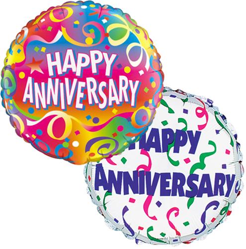 Happy Anniversary Mylar Balloons (2)