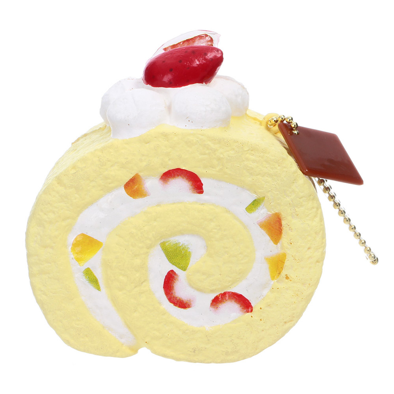 Cafe De N Scented Fruit Chiffon Roll Cake Squishy Toys Charms Front View