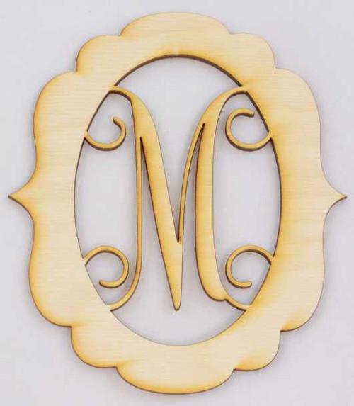 Laser Cut Wood Monograms | Wooden Monogram Initials