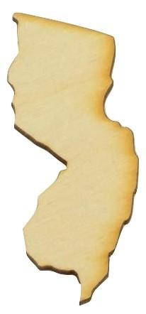 New Jersey State Cutout Unfinished Wood Cutouts Wood