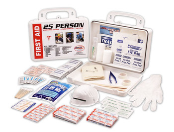 FIRST AID KIT ANSI STANDARD, 25 PERSON-PLASTIC