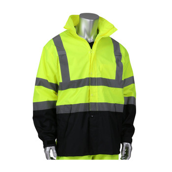 ANSI CLASS 3 WATERPROOF JACKET W/BLACK BOTTOM