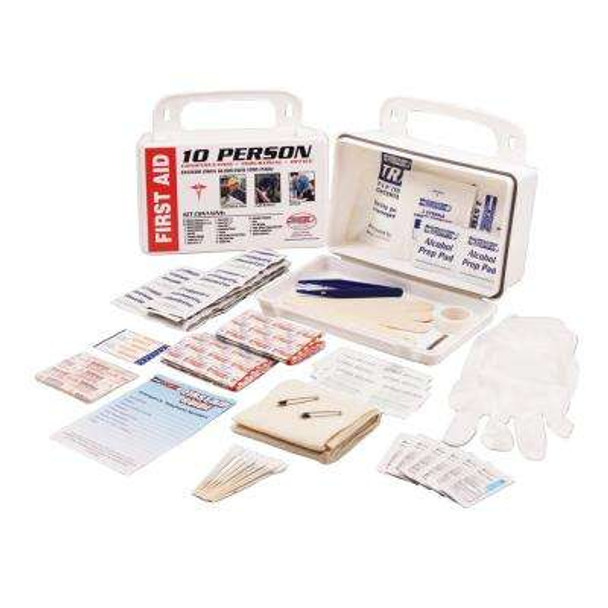 FIRST AID KIT ANSI STANDARD, 10 PERSON-PLASTIC