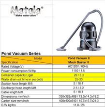 Muck Buster II Pond Vac Chart