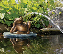 Lazy Frog on Lily Pad Spitter