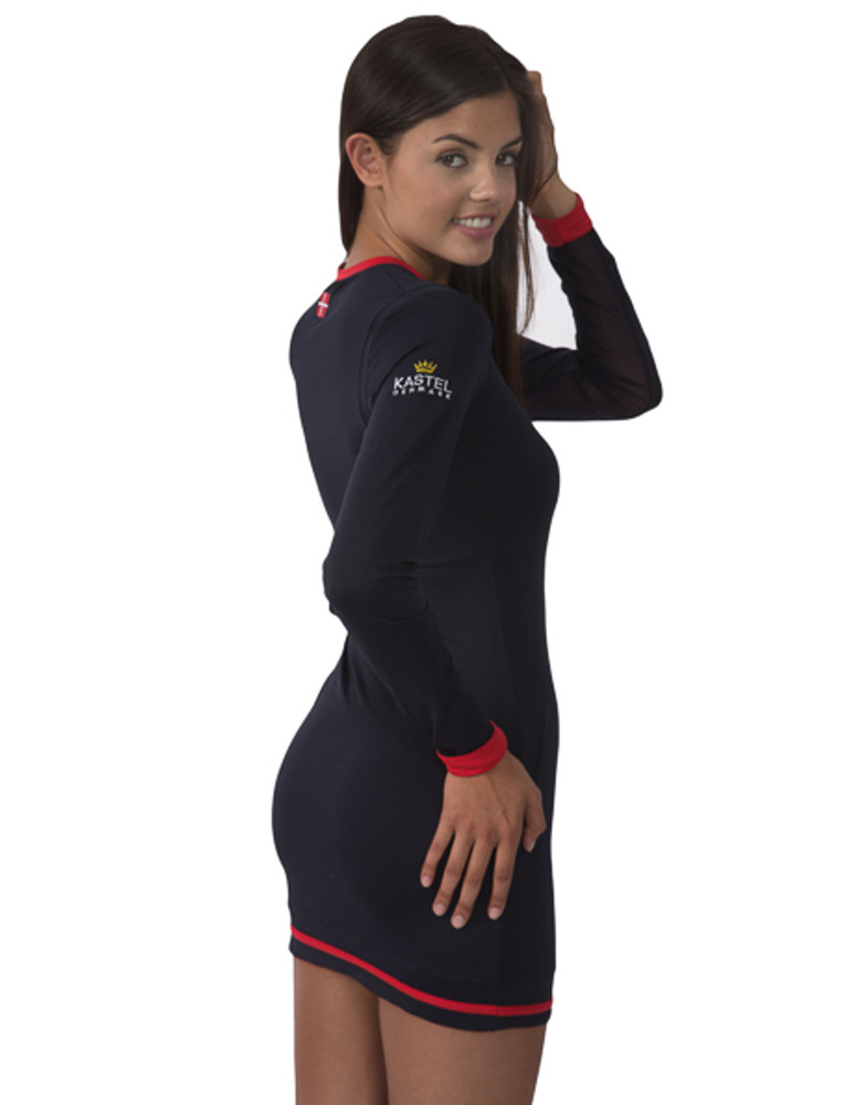 Charlotte Collection Navy with Red Trim Dress