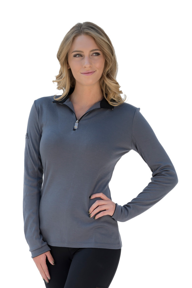 Merino Wool Charlotte Collection Grey with Black Trim