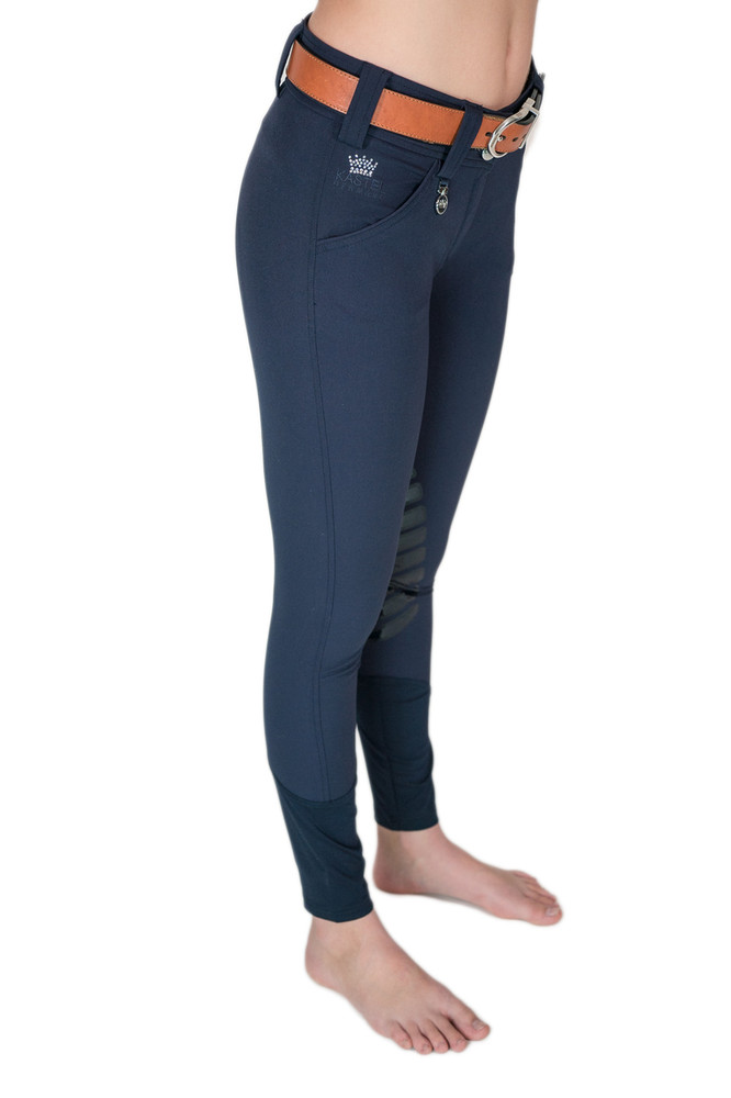 Camilla Knee Patch Silicone Breech Navy