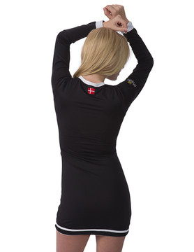 Charlotte Collection Black with White Trim Dress