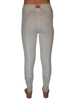 Camilla Knee Patch Silicone Breech White