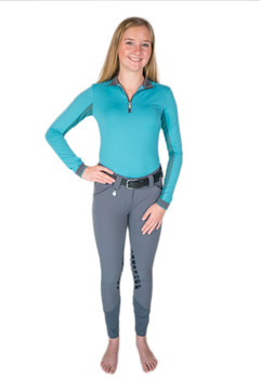 Camilla Knee Patch Silicone Breech Grey
