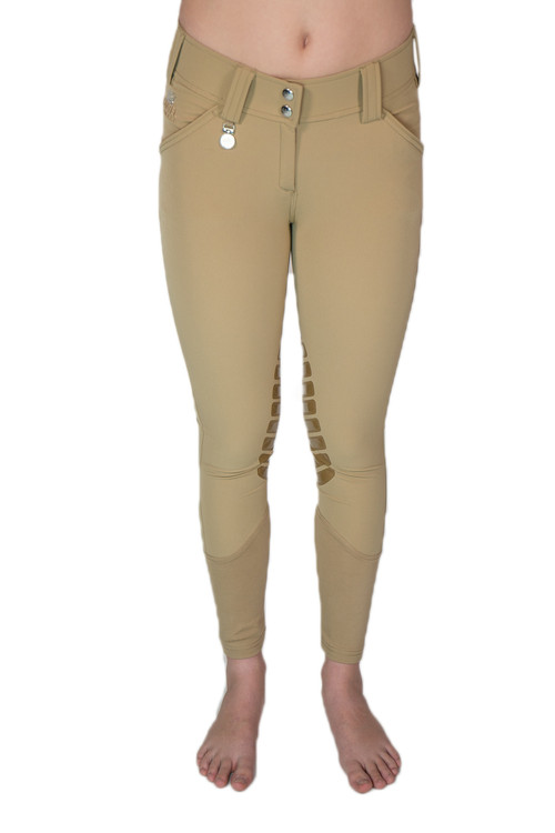 Camilla Knee Patch Silicone Breech Tan