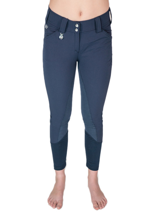 Camilla Full-Seat Suede Breech Navy