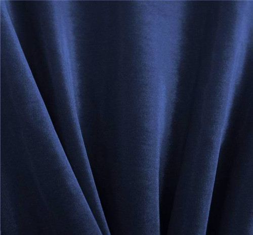 Stretch Velvet Solid Royal