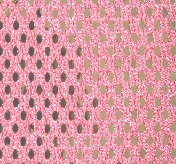 3MM Sequins on A/Knit Solid Pink