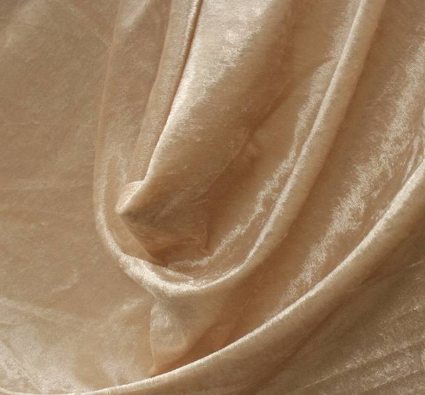 Crushed Panne Velour Beige
