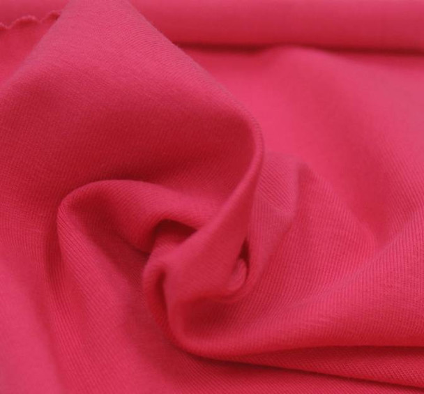 Jersey Spandex Solid Hot Pink