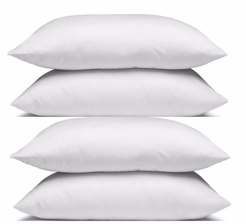 4 pack Hotel Quality Standard Size Pillows Cotton Case Micro Gel