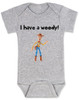 I have a Woody Baby Onesie, Woody baby onsie, Toy Story, There's a snake in my boot, punny baby gift, buzz