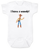 I have a Woody Baby Onesie, Woody baby onsie, Toy Story, There's a snake in my boot, punny baby gift