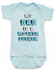 My Dad is a Mother Fucker Bodysuit, Funny offensive Baby Shower gift, daddy is a mother fucker, blue