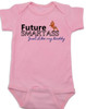 Future Smartass Baby Bodysuit, Smart-ass Dad, Smart Ass Mom, Funny parents, snarky baby onsie, pink