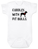 Cuddles with Pit Bulls Onesie, Pit Bull Love Infant bodysuit, Babies Best Friend, Love-a-bull Onesie, personalized dog lover onesie, cute pit bull baby clothes, badass dog onsie, Pit Bull Best Friend