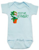 Feed Me Seymour baby Bodysuit, Little Shop of Horrors, Funny movie baby Bodysuit, classic movie infant bodysuit, Audrey plant, Venus fly trap, rick moranis, hangry baby, hungry baby onsie, blue