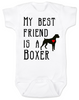 My Best Friend is a Boxer Baby Onesie, Boxer Puppy Love Onsie, Babies Best Friend, Fur Babies best friend, Love my doggy, personalized dog lover onesie, unique baby shower gift, personalized baby birthday gift, cute I love my dog baby clothes, badass dog onesie, Rescue dog, Personalized with custom