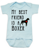 My Best Friend is a Boxer Baby Onesie, Boxer Puppy Love Onsie, Babies Best Friend, Fur Babies best friend, Love my doggy, personalized dog lover onesie, unique baby shower gift, personalized baby birthday gift, cute I love my dog baby clothes, badass dog onesie, Rescue dog, blue