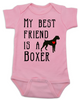 My Best Friend is a Boxer Baby Onesie, Boxer Puppy Love Onsie, Babies Best Friend, Fur Babies best friend, Love my doggy, personalized dog lover onesie, unique baby shower gift, personalized baby birthday gift, cute I love my dog baby clothes, badass dog onesie, Rescue dog, pink