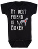 My Best Friend is a Boxer Baby Onesie, Boxer Puppy Love Onsie, Babies Best Friend, Fur Babies best friend, Love my doggy, personalized dog lover onesie, unique baby shower gift, personalized baby birthday gift, cute I love my dog baby clothes, badass dog onesie, Rescue dog, black