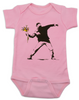 Banksy flower thrower baby onesie, Banksy baby clothing