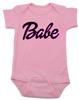 Babe baby onesie, little barbie girl baby onesie, Future babe, pink