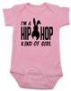 Hip Hop kind of guy baby onesie, hip hop kind of girl baby onesie, Cool Easter baby bodysuit, funny easter onsie, hip hop music baby onesie, Easter baby gift for hip parents, I'm a hip hop kind of girl, pink
