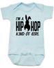 Hip Hop kind of guy baby onesie, hip hop kind of girl baby onesie, Cool Easter baby bodysuit, funny easter onsie, hip hop music baby onesie, Easter baby gift for hip parents, I'm a hip hop kind of girl, blue